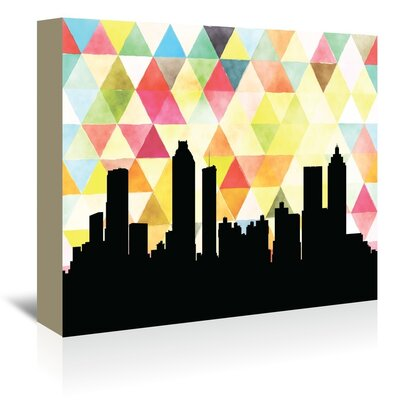 Americanflat 'Atlanta Triangle' by Paper Finch Graphic Art Wrapped on Canvas
