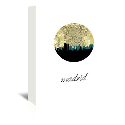Americanflat 'Madrid Map Skyline' by PaperFinch Graphic Art Wrapped on Canvas