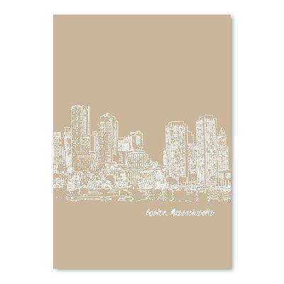 Americanflat 'Skyline Boston 7' by Brooke Witt Graphic Art
