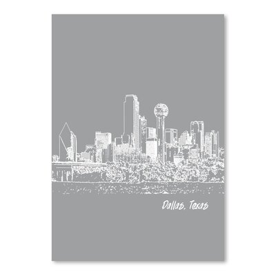 Americanflat 'Skyline Dallas 2' by Brooke Witt Graphic Art