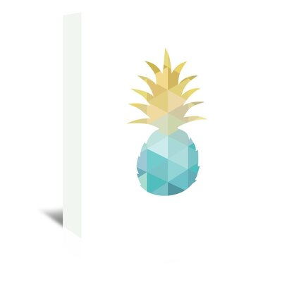 Americanflat 'Blue Yellow Pineapple Up To' by Melinda Wood Graphic Art Wrapped on Canvas