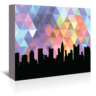 Americanflat 'Columbus Triangle' by Paper Finch Graphic Art Wrapped on Canvas