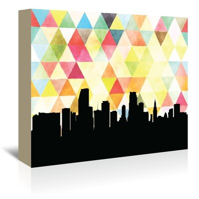 Americanflat 'Miami_Triangle' by PaperFinch Graphic Art Wrapped on Canvas