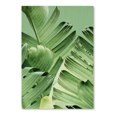 Americanflat 'Tropical Leaves 2' by Lila and Lola Photographic Print