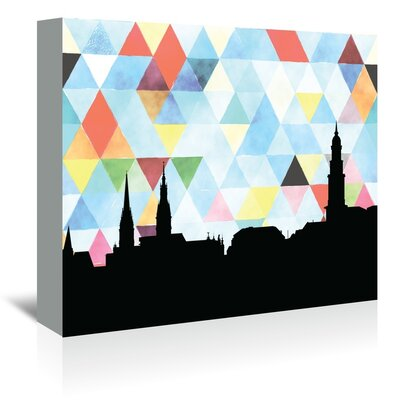 Americanflat 'Hamburg_Triangle' by PaperFinch Graphic Art Wrapped on Canvas