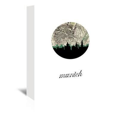 Americanflat 'Munich Map Skyline' by PaperFinch Graphic Art Wrapped on Canvas