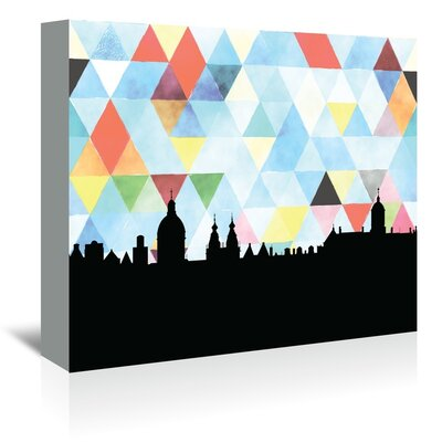 Americanflat 'Amsterdam Triangle' by Paper Finch Graphic Art Wrapped on Canvas