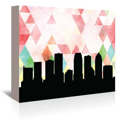 Americanflat 'Tampa_Triangle' by PaperFinch Graphic Art Wrapped on Canvas