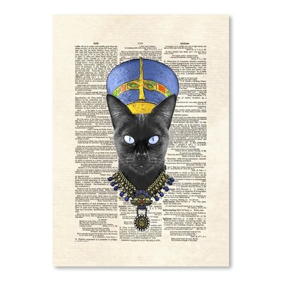 Americanflat 'Cat Nefertiti' by Matt Dinniman Graphic Art