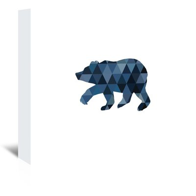 Americanflat 'Geo Bear Up To' by Melinda Wood Graphic Art Wrapped on Canvas