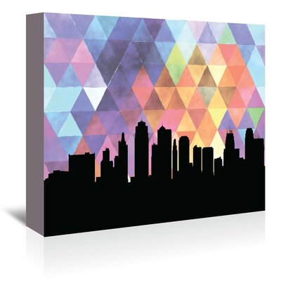 Americanflat 'KansasCity Triangle' by PaperFinch Graphic Art Wrapped on Canvas