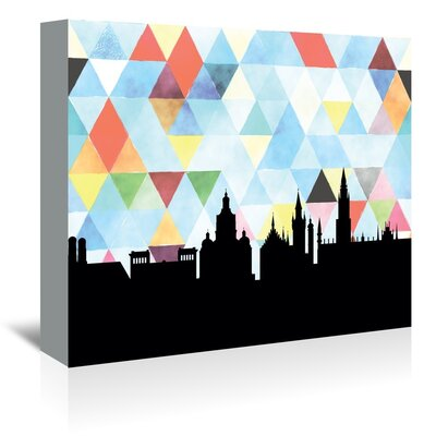 Americanflat 'Munich_Triangle' by PaperFinch Graphic Art Wrapped on Canvas