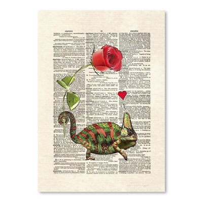 Americanflat 'Chameleon Love' by Matt Dinniman Graphic Art