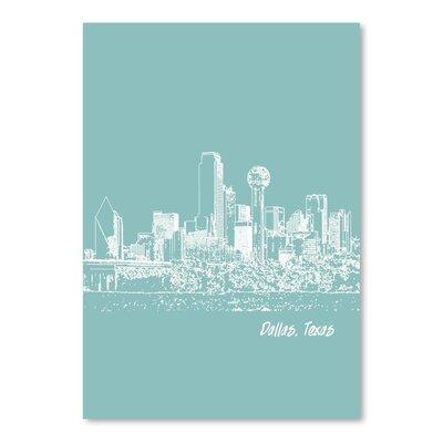 Americanflat 'Skyline Dallas 5' by Brooke Witt Graphic Art