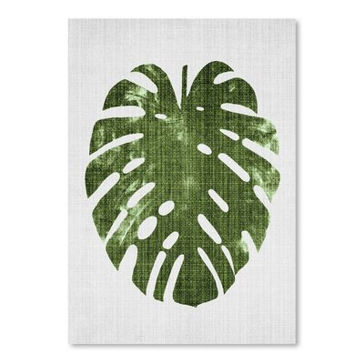 Americanflat 'Tropical Leaf 1' by Lila and Lola Graphic Art
