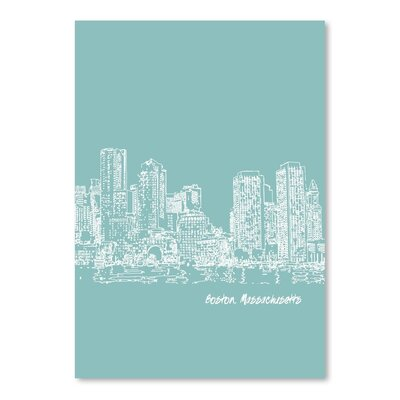 Americanflat 'Skyline Boston 5' by Brooke Witt Graphic Art
