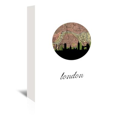 Americanflat 'London Map SKyline' by Paper Finch Graphic Art Wrapped on Canvas