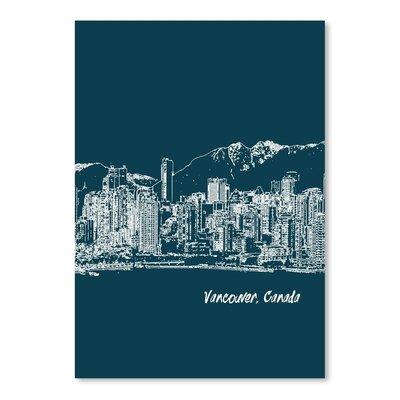 Americanflat 'Skyline Vancouver 3' by Brooke Witt Graphic Art