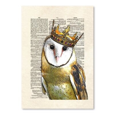 Americanflat 'Owl Kingi' by Matt Dinniman Graphic Art