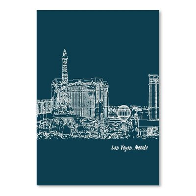 Americanflat 'Skyline Las Vegas 3' by Brooke Witt Graphic Art