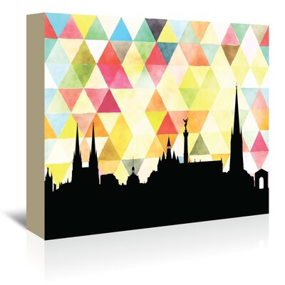 Americanflat 'Bordeaux Triangle' by Paper Finch Graphic Art Wrapped on Canvas
