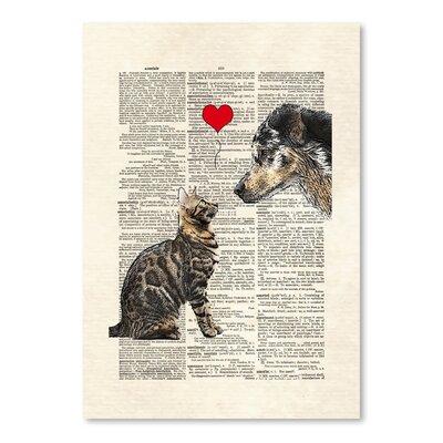 Americanflat 'Dog Cat Love' by Matt Dinniman Graphic Art