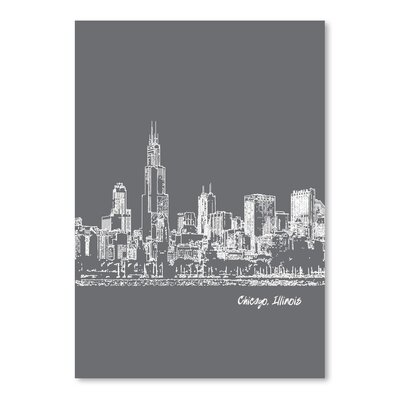 Americanflat 'Skyline Chicago 1' by Brooke Witt Graphic Art
