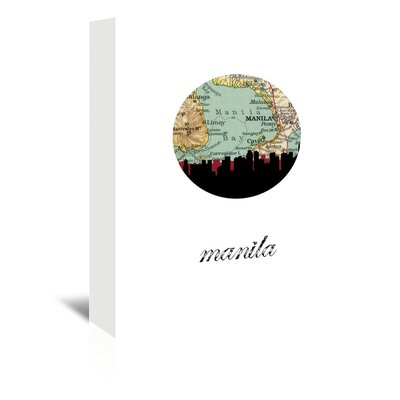 Americanflat 'Manila Map Skyline' by PaperFinch Graphic Art Wrapped on Canvas