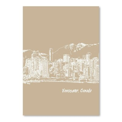 Americanflat 'Skyline Vancouver 7' by Brooke Witt Graphic Art