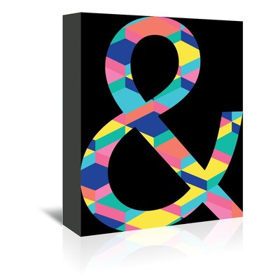 Americanflat 'Amperstand' by Ashlee Rae Graphic Art Wrapped on Canvas in Black