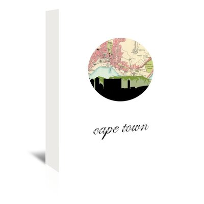 Americanflat 'Cape Town Map Skyline' by Paper Finch Graphic Art Wrapped on Canvas