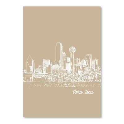 Americanflat 'Skyline Dallas 7' by Brooke Witt Graphic Art