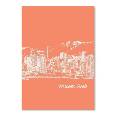 Americanflat 'Skyline Vancouver 8' by Brooke Witt Graphic Art