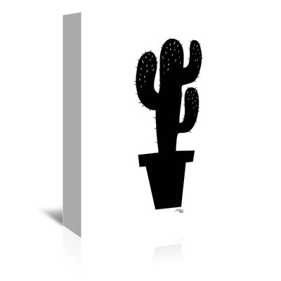 Americanflat 'Cactus Silhoutte' by Ashlee Rae Graphic Art Wrapped on Canvas