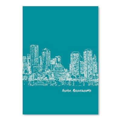Americanflat 'Skyline Boston 4' by Brooke Witt Graphic Art