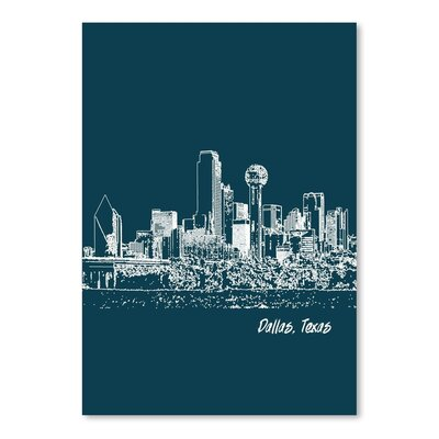 Americanflat 'Skyline Dallas 3' by Brooke Witt Graphic Art