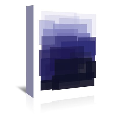 Americanflat 'Indigo Ombre' by Ashlee Rae Graphic Art Wrapped on Canvas