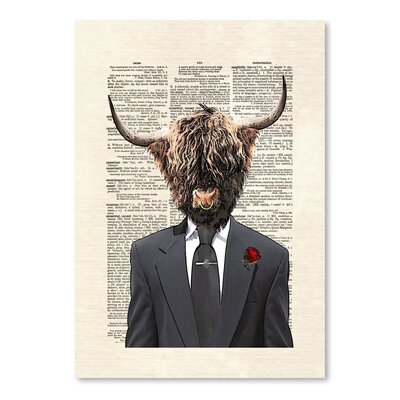 Americanflat 'Highland Bull Man' by Matt Dinniman Graphic Art