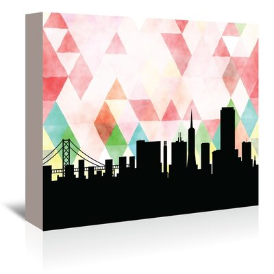 Americanflat 'SanFrancisco_Triangle' by PaperFinch Graphic Art Wrapped on Canvas
