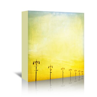 Americanflat 'Boardwalk-Sunset' by Mina Teslaru Graphic Art Wrapped on Canvas