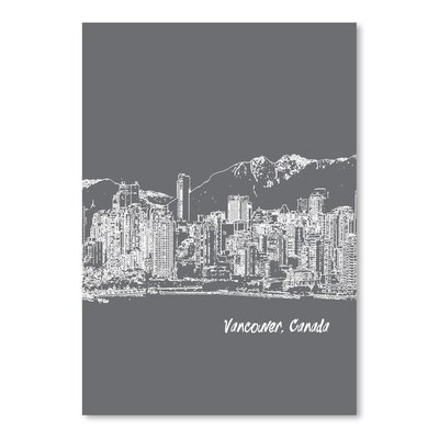 Americanflat 'Skyline Vancouver 1' by Brooke Witt Graphic Art