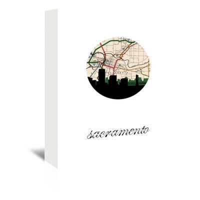 Americanflat 'Sacramento Map Skyline' by PaperFinch Graphic Art Wrapped on Canvas