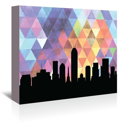 Americanflat 'Indianapolis Triangle' by PaperFinch Graphic Art Wrapped on Canvas