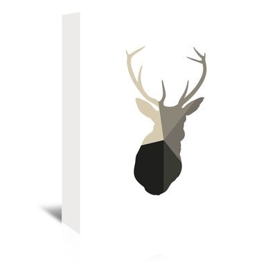Americanflat 'Deer Head Up To' by Melinda Wood Graphic Art Wrapped on Canvas