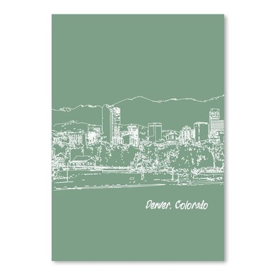 Americanflat 'Skyline Denver 6' by Brooke Witt Graphic Art