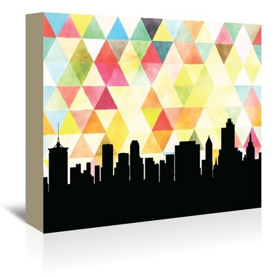 Americanflat 'Tulsa_Triangle' by PaperFinch Graphic Art Wrapped on Canvas