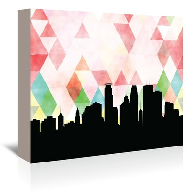 Americanflat 'Minneapolis_Triangle' by PaperFinch Graphic Art Wrapped on Canvas