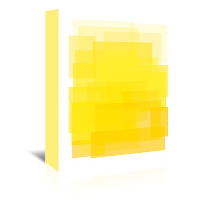 Americanflat 'Yellow Ombre' by Ashlee Rae Graphic Art Wrapped on Canvas