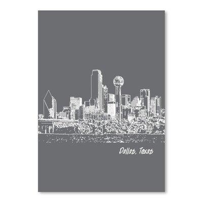 Americanflat 'Skyline Dallas 1' by Brooke Witt Graphic Art
