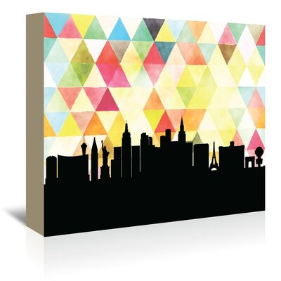 Americanflat 'LasVegas_Triangle' by PaperFinch Graphic Art Wrapped on Canvas